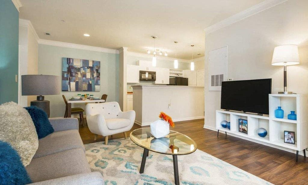 Spacious open concept floor plan at Hawthorne at Main