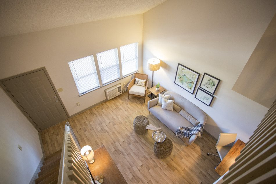 Living Room at Hawthorne Lofts South, North Carolina