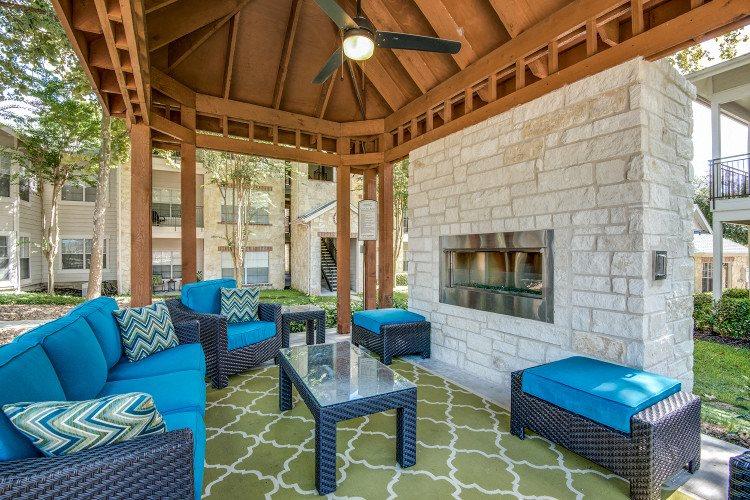Fireplace at Hawthorne Riverside, New Braunfels, Texas