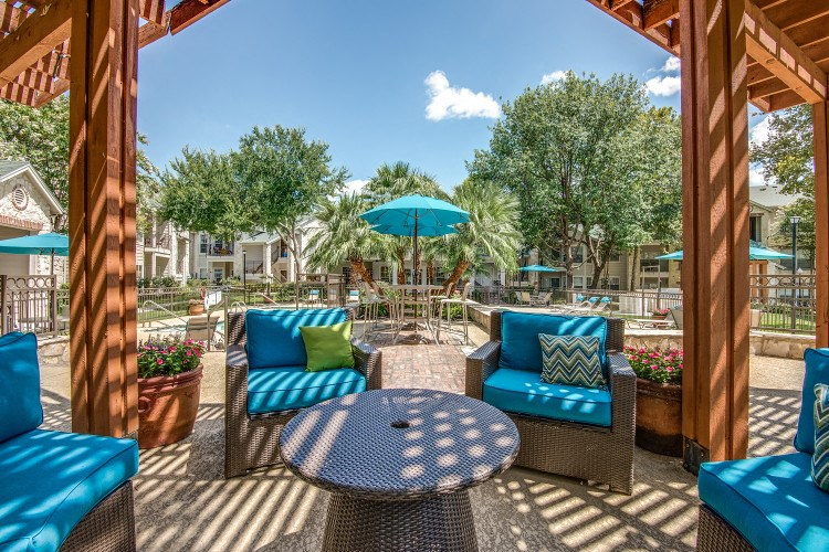 Outdoor Lounge at Hawthorne Riverside, New Braunfels, 78130