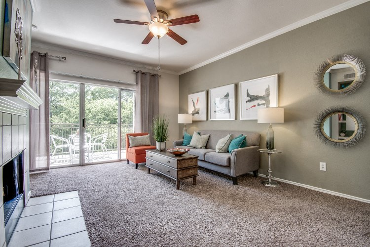 Living Room at Hawthorne Riverside, New Braunfels, TX