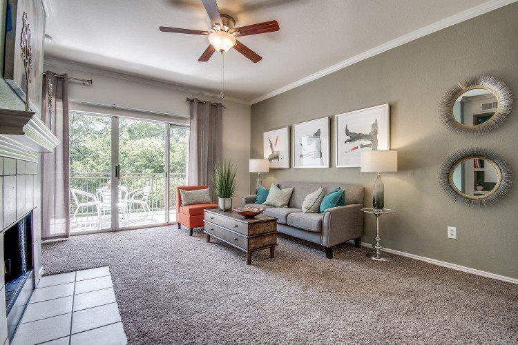 Living Room at Hawthorne Riverside, New Braunfels, TX
