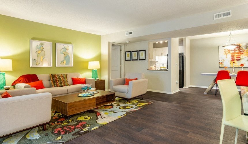 Model Floor Plan Living Room at Hawthorne Creekside in Chattanooga TN