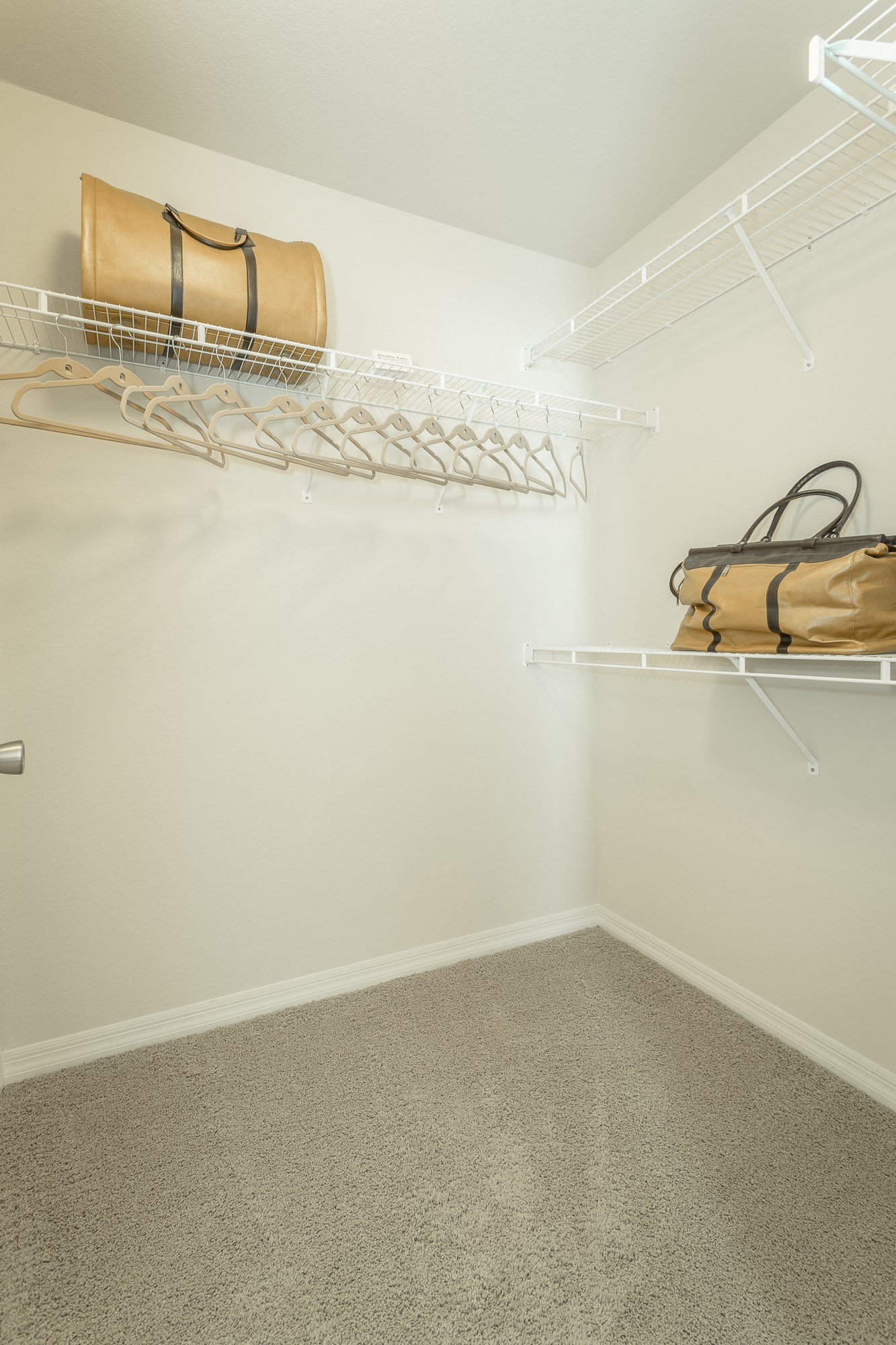 Spacious walk-in closet at Amberleigh Ridge