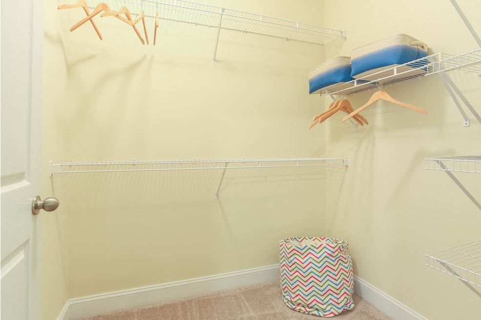 Spacious walk-in closet at Hawthorne at the Meadows