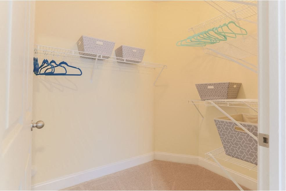 Enjoy spacious walk-in closets in your home at Hawthorne at the Meadows