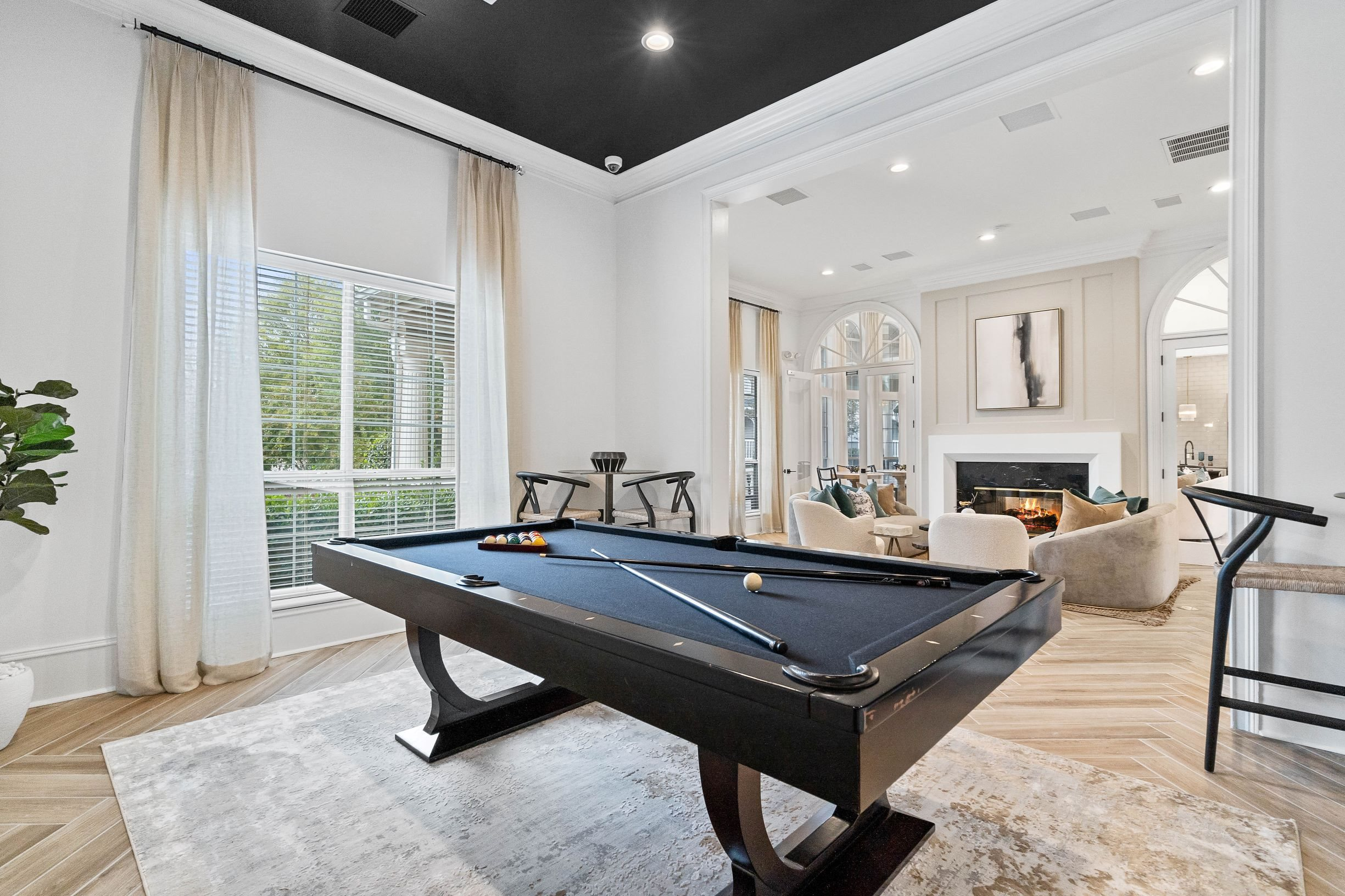 Billiards Room at Hawthorne at the Carlyle in Greenville, SC