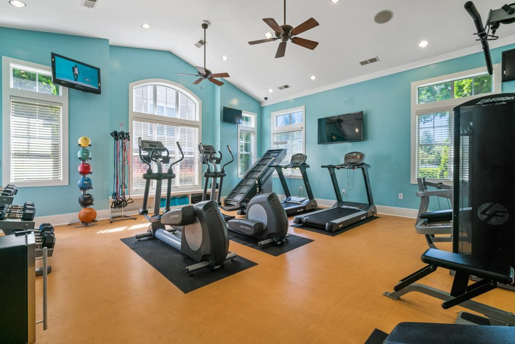 Fitness center at Hawthorne at the Greene