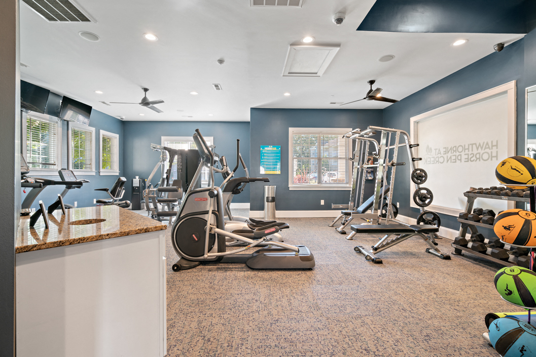 Fitness Center at Hawthorne at Horse Pen Creek
