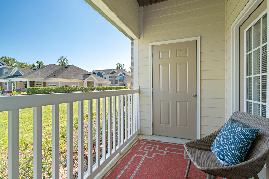 Private patio or balcony at Hawthorne at Horse Pen Creek