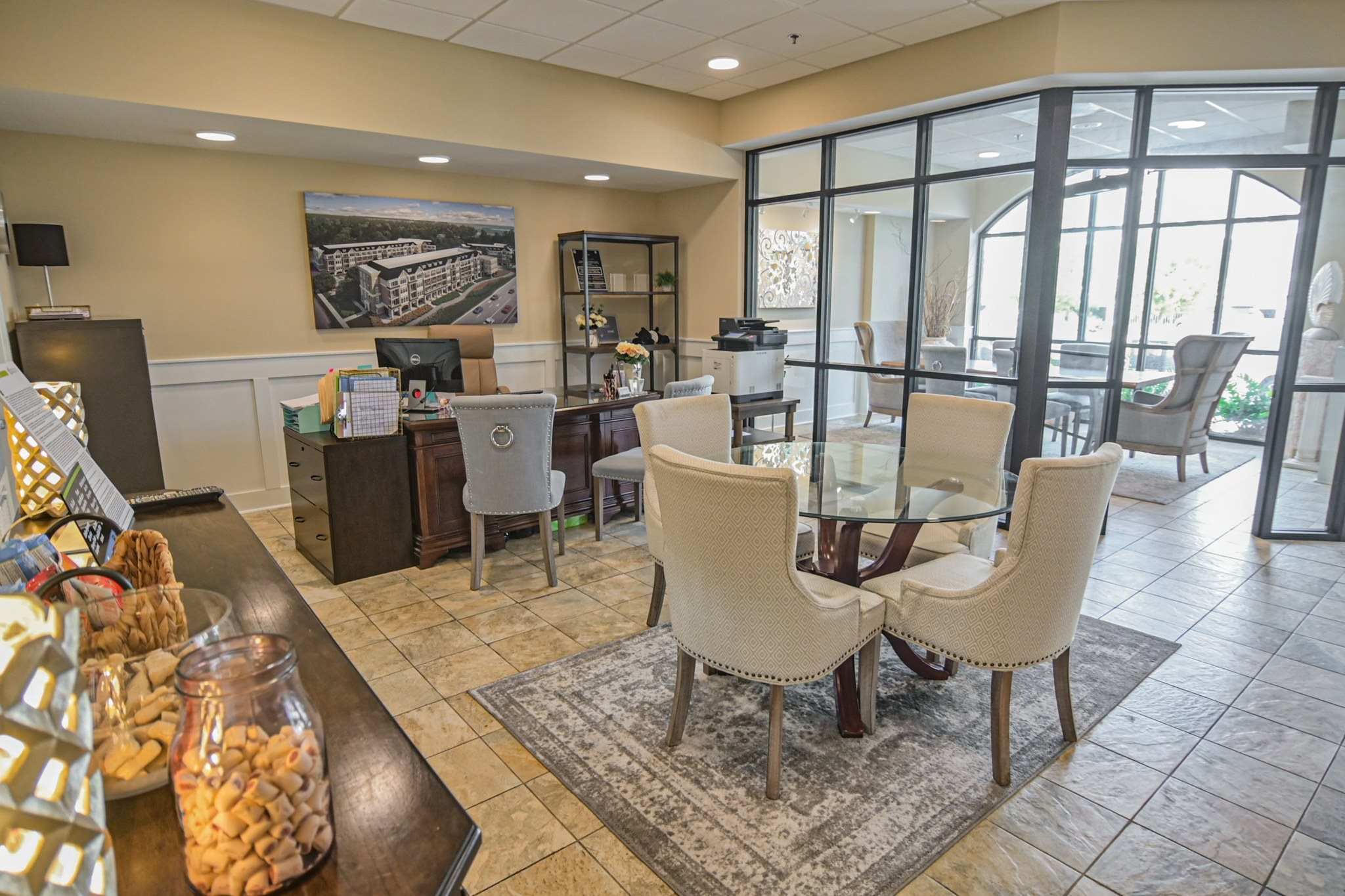 Business Center at Grand View Luxury Apartments in Wilmington, NC