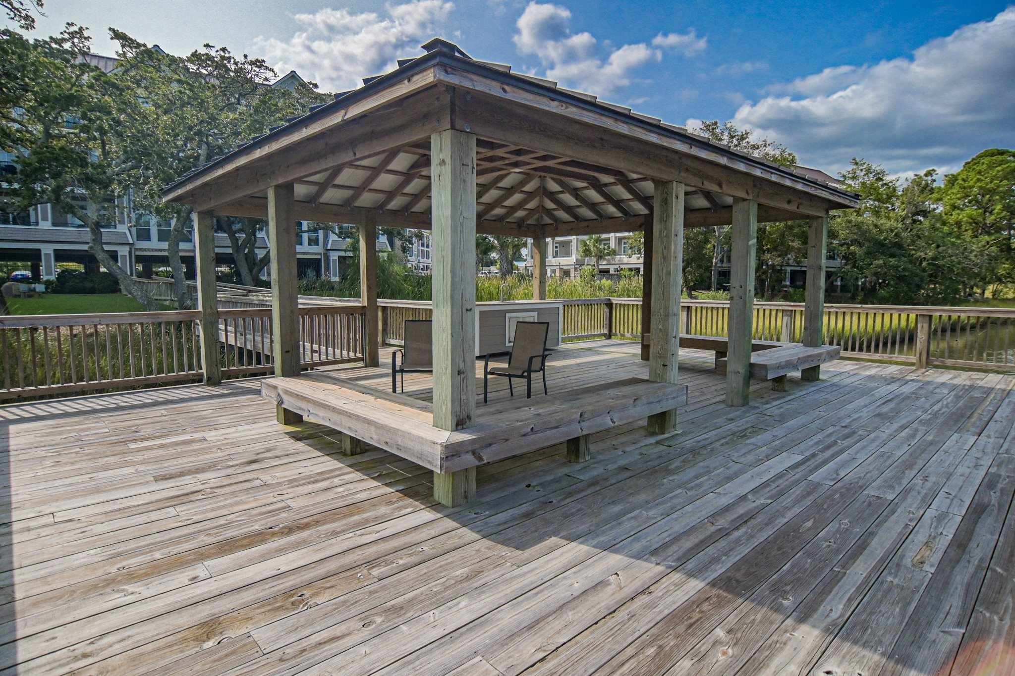 Private Covered Dock Access on Marsh at Grand View Luxury Apartments