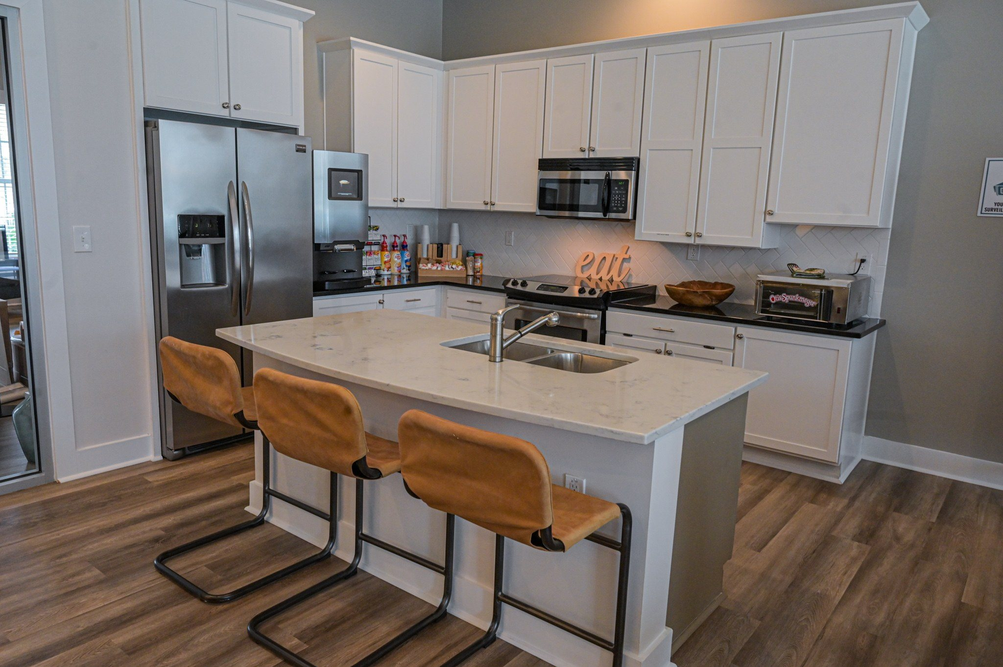 Clubhouse Kitchen at Stephens Pointe Apartments in Wilmington, NC