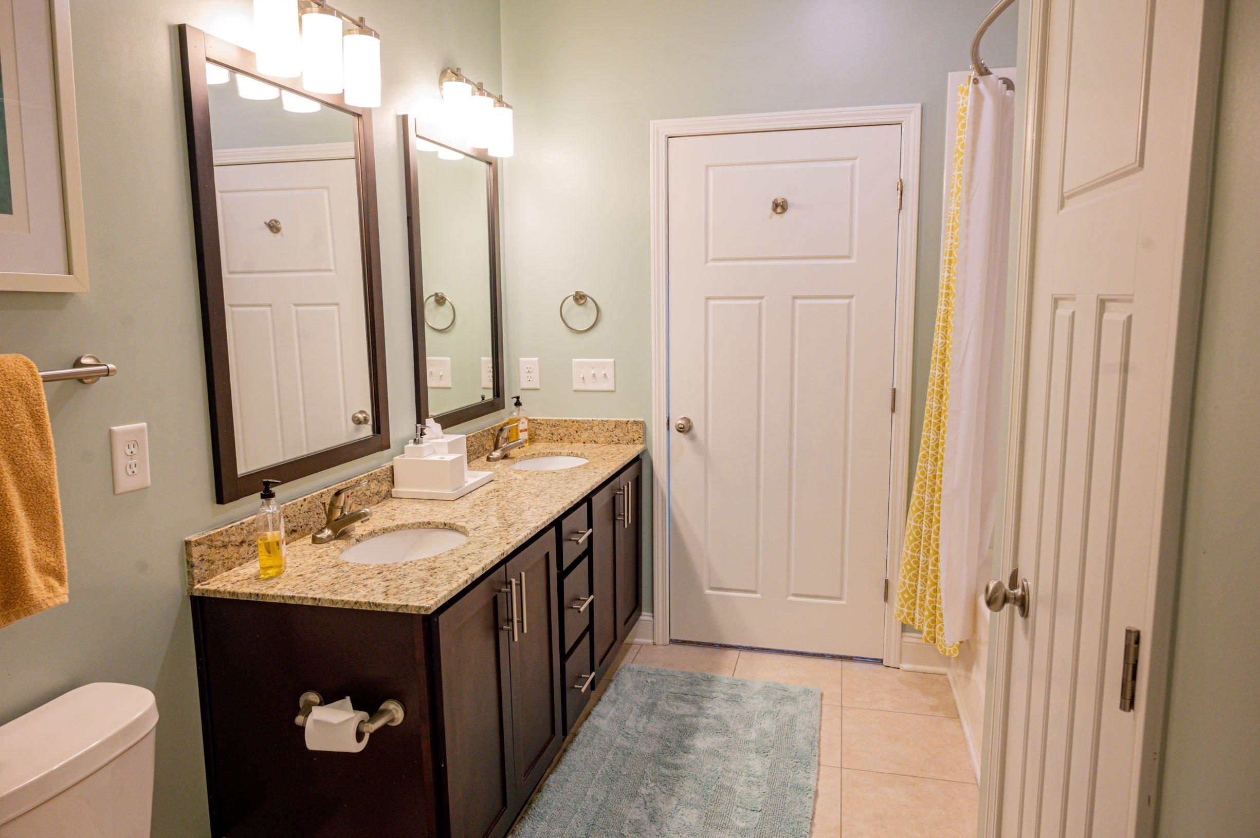 Spacious Bathroom at Hawthorne at the Station in Wilmington, NC