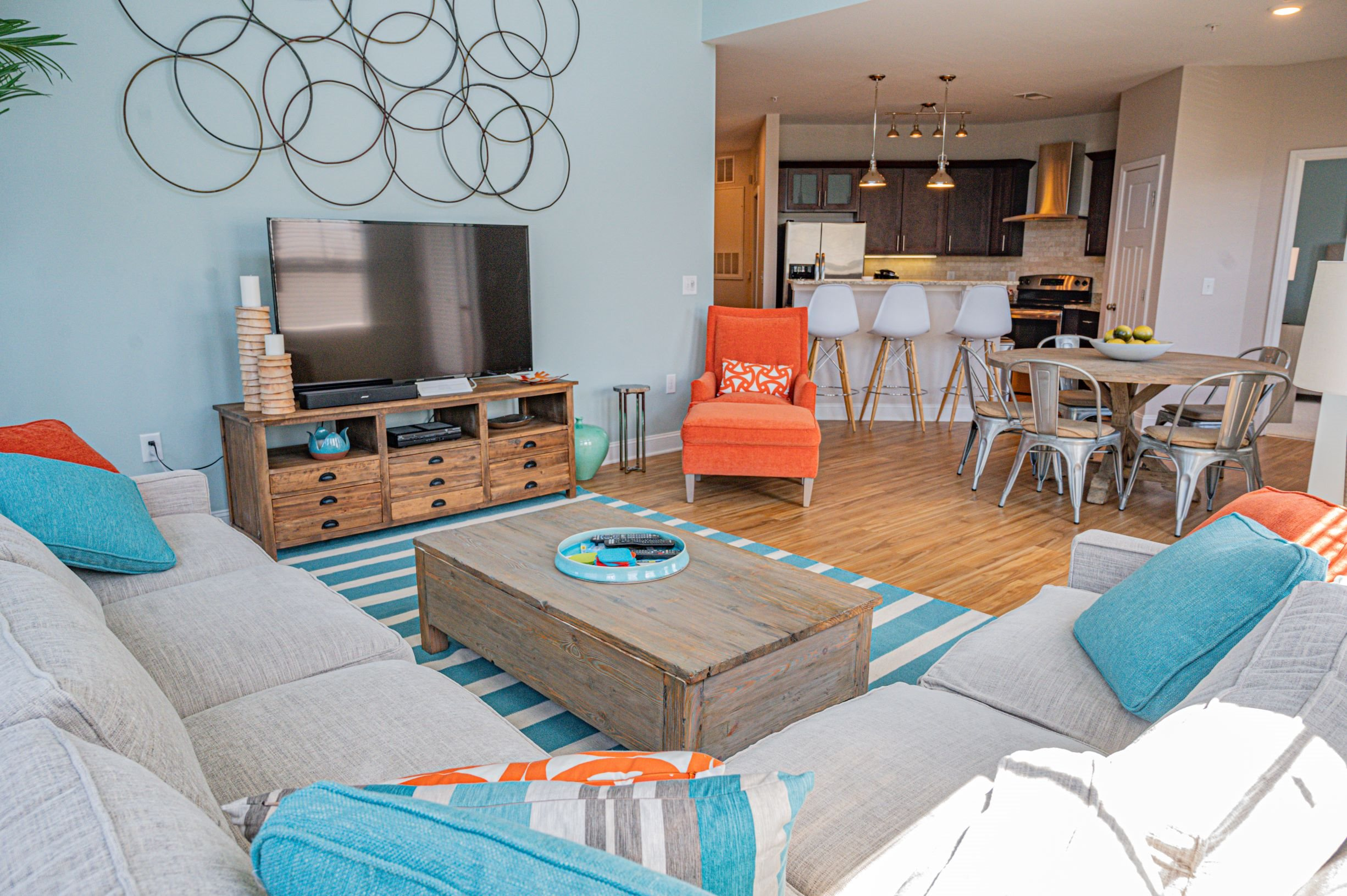 Spacious Living Room at Hawthorne at the Station in Wilmington, NC