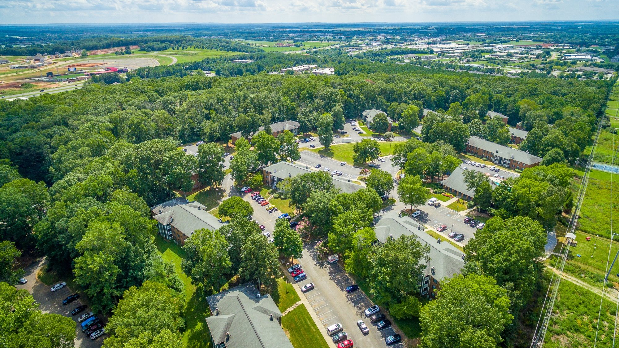 Aerial View of Hawthorne at the Ridge in Madison, AL