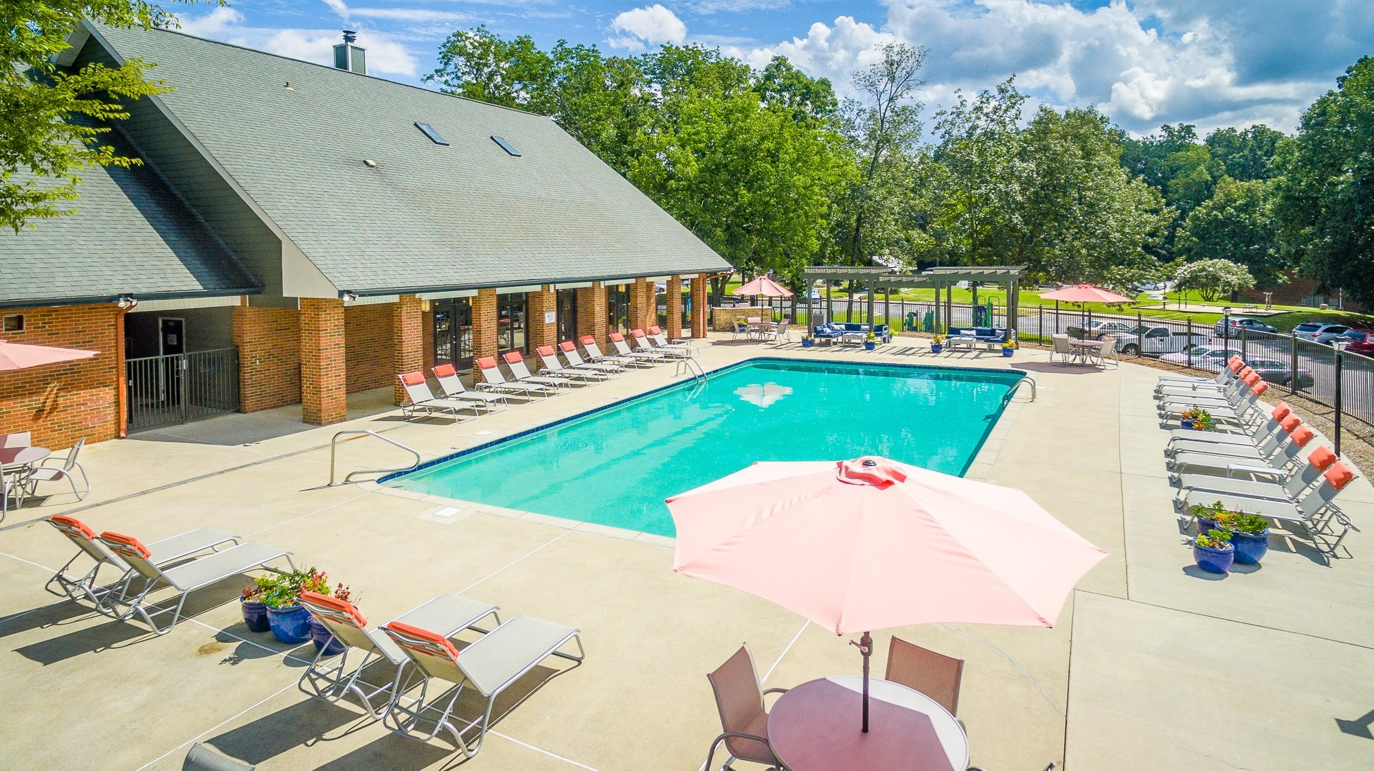Sparkling Swimming Pool with Spacious Sundeck at Hawthorne at the Ridge in Madison, AL