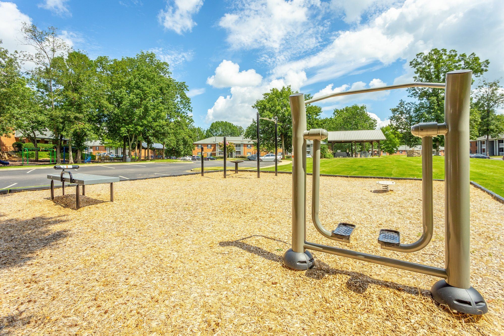 Outdoor Fitness Equipment at Hawthorne at the Ridge in Madison, AL