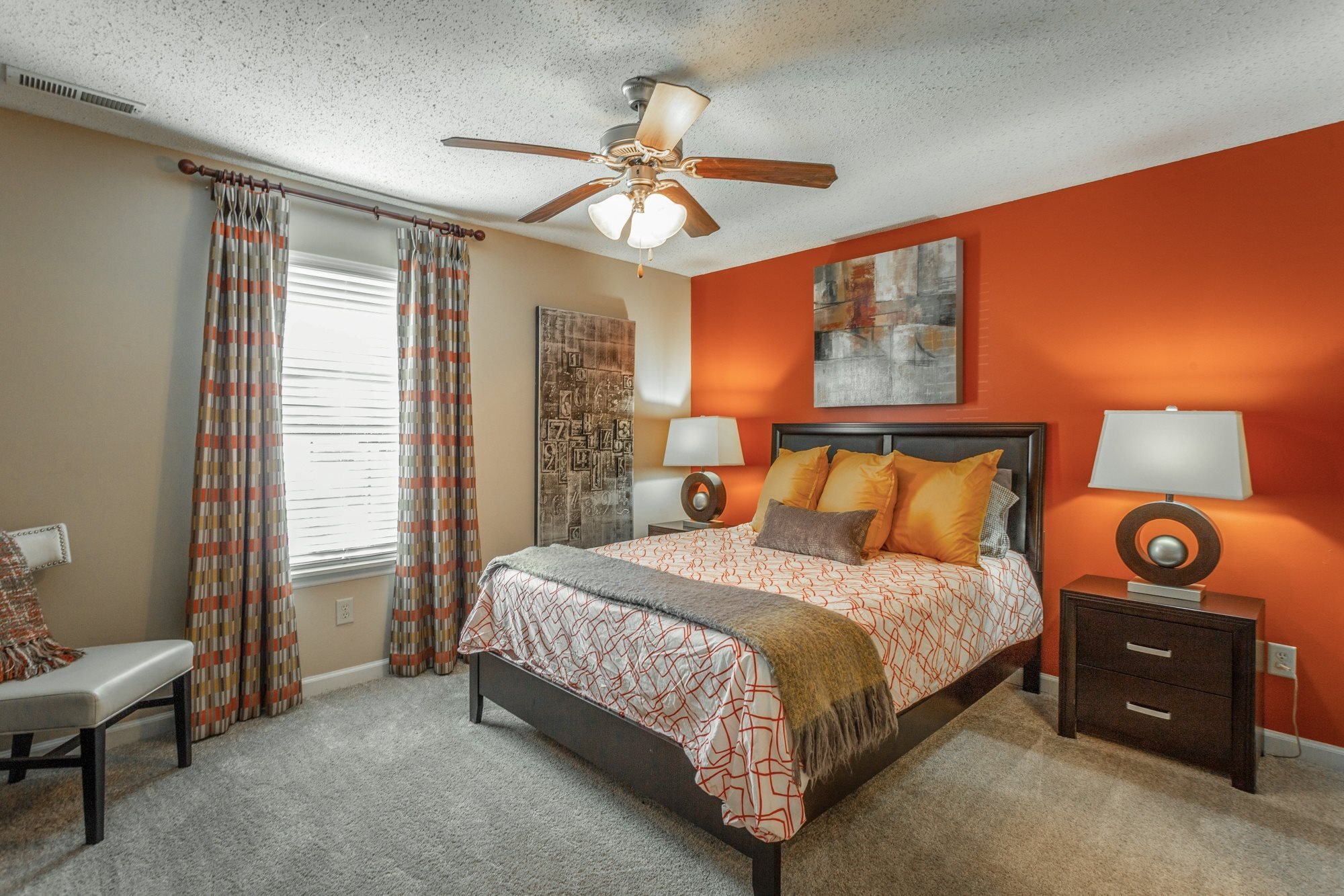Model Bedroom at Hawthorne at the Ridge in Madison, AL