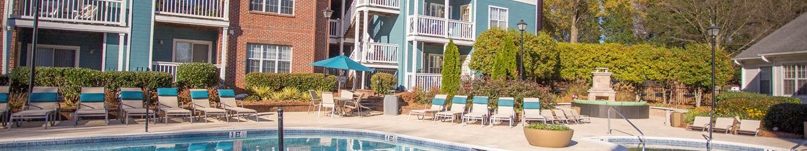 Resort Style Swimming Pool at Hawthorne at the Park in Greenville South Carolina