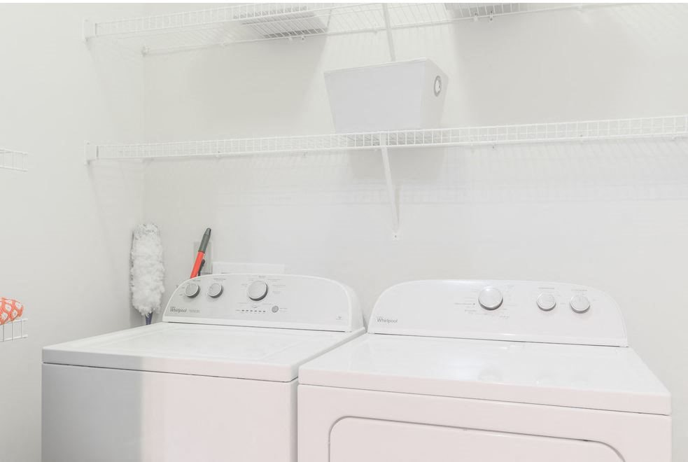Washer and dryer in your home at Hawthorne at the Meadows
