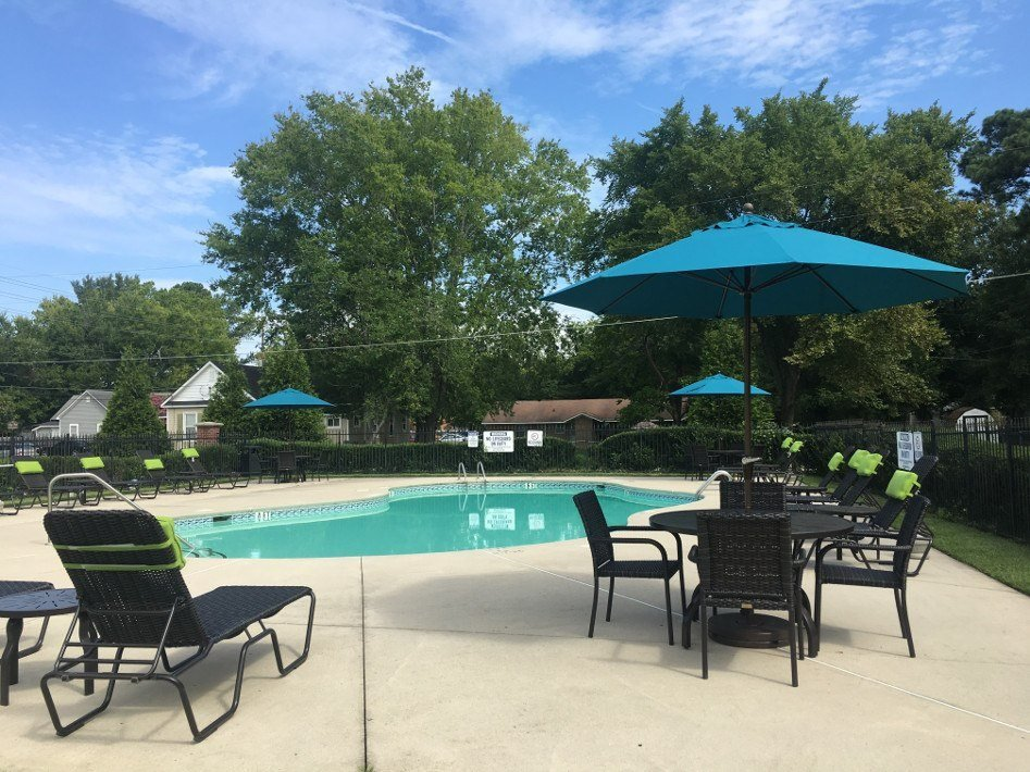 Sparkling Swimming Pool at South Main Apartment Homes in Hope Mills, NC
