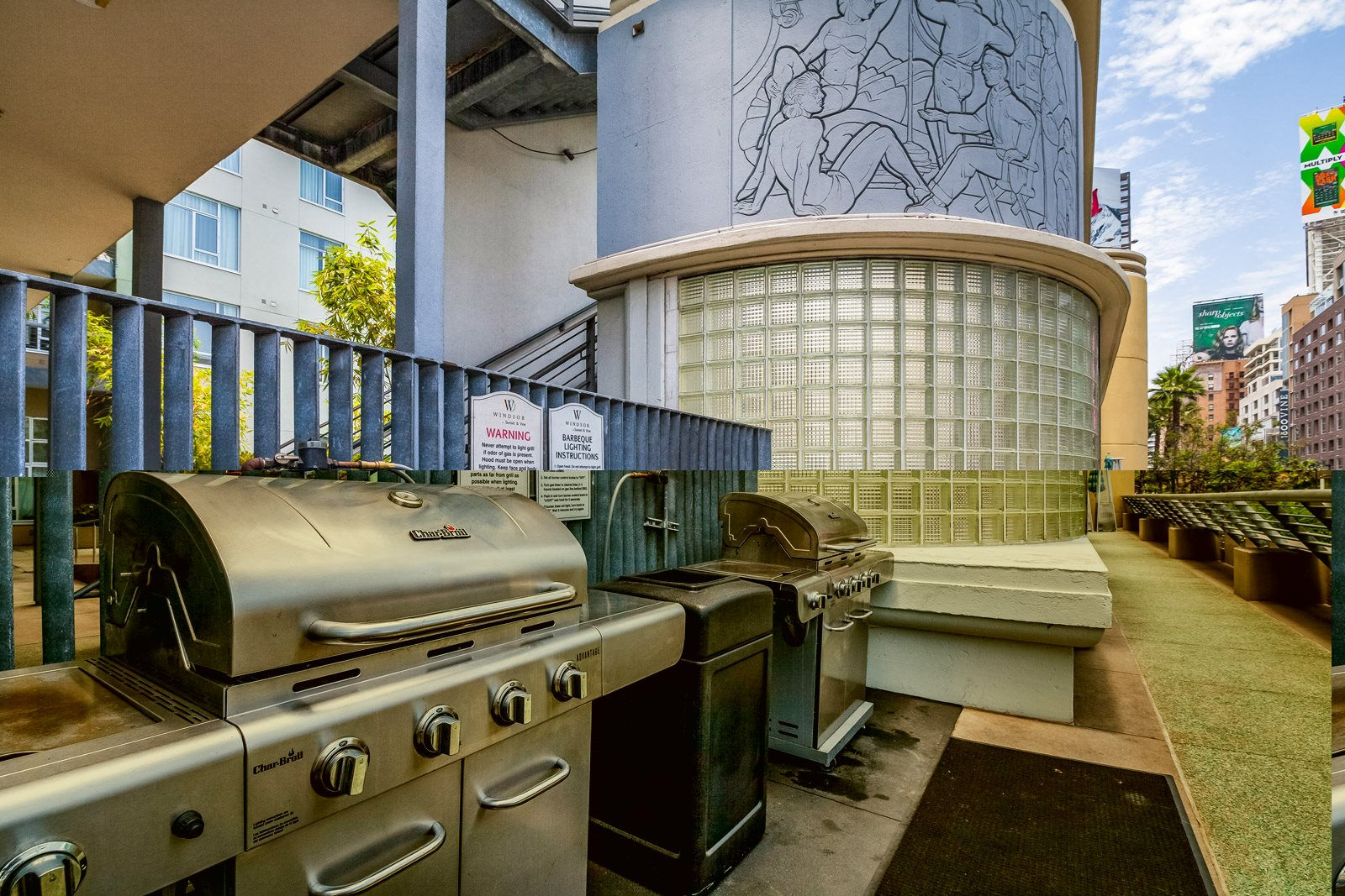 Outdoor BBQ Grills at Sunset and Vine, Los Angeles, California