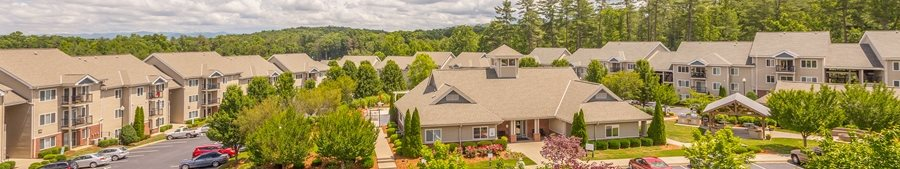 Hawthorne at the Peak Property Aerial Photo Banner in Asheville, North Carolina