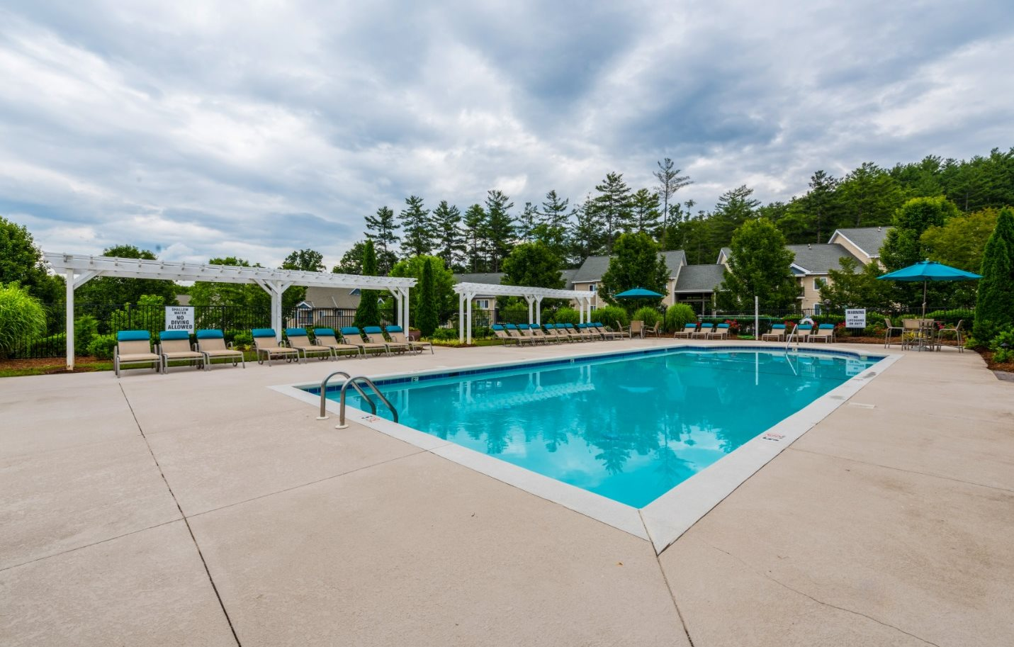 Resort Style, Sparkling Swimming Pool at Hawthorne at the Peak in Asheville, North Carolina