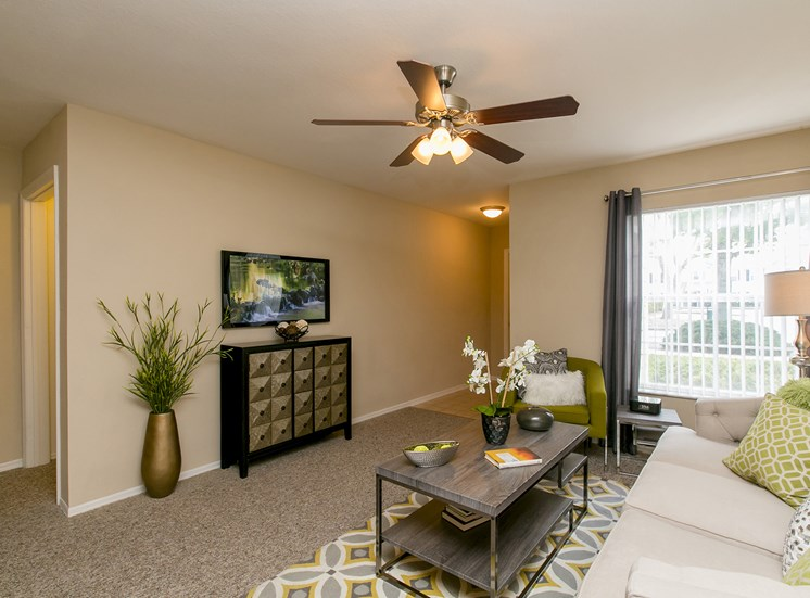 Living Room at Belle Isle, for more communities, visit Concord Rents at ConcordRents.com