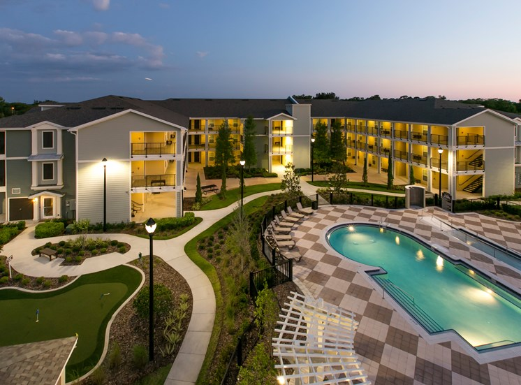 Fountains at Pershing Park Apartments for rent in Orlando, FL. Make this community your new home or visit other Concord Rents communities at ConcordRents.com. Aerial view