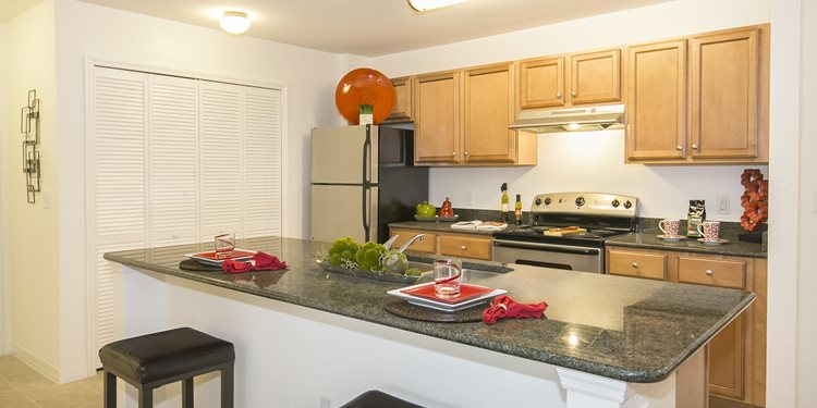Fountains at San Remo Court Apartments for rent in Kissimmee, FL. Make this community your new home or visit other Concord Rents communities at ConcordRents.com. Kitchen