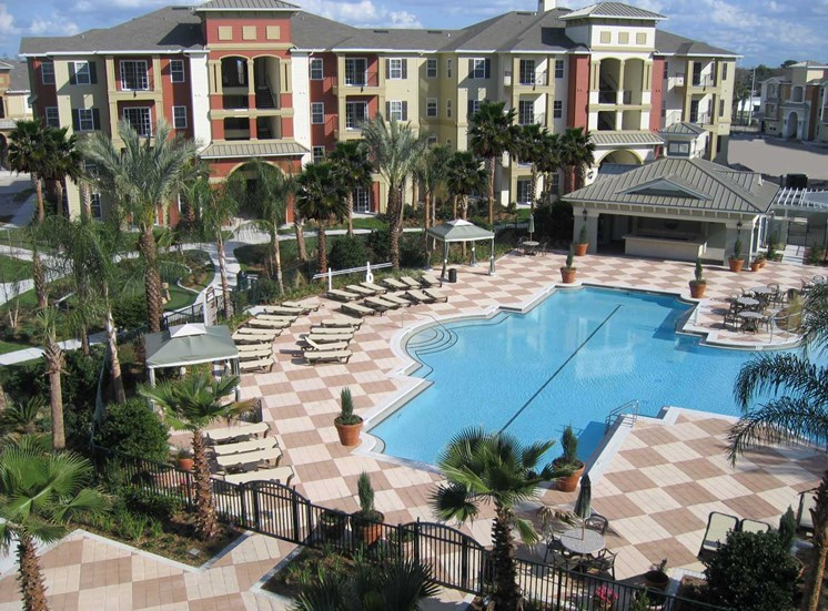 Fountains at Millenia Apartments for rent in Orlando, FL. Make this community your new home or visit other Concord Rents communities at ConcordRents.com. Aerial view