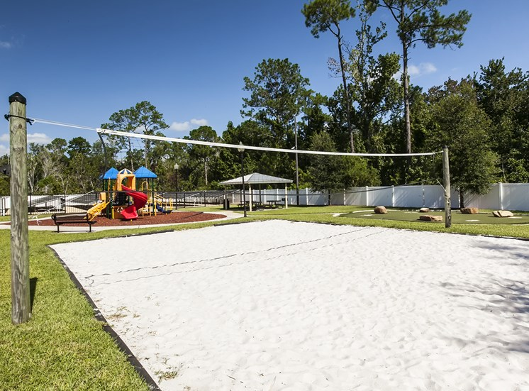Volleyball court at Oviedo Town Centre. For more communities, visit Concord Rents at ConcordRents.com