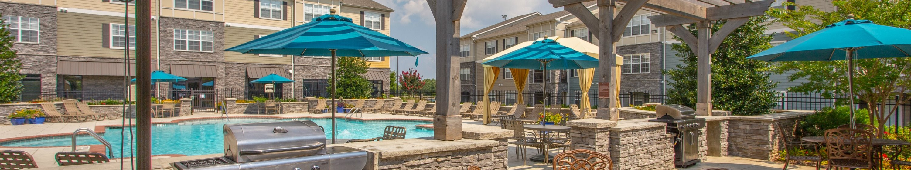 Sparkling Swimming Pool at Amberleigh Ridge Apartments in Chattanooga, TN