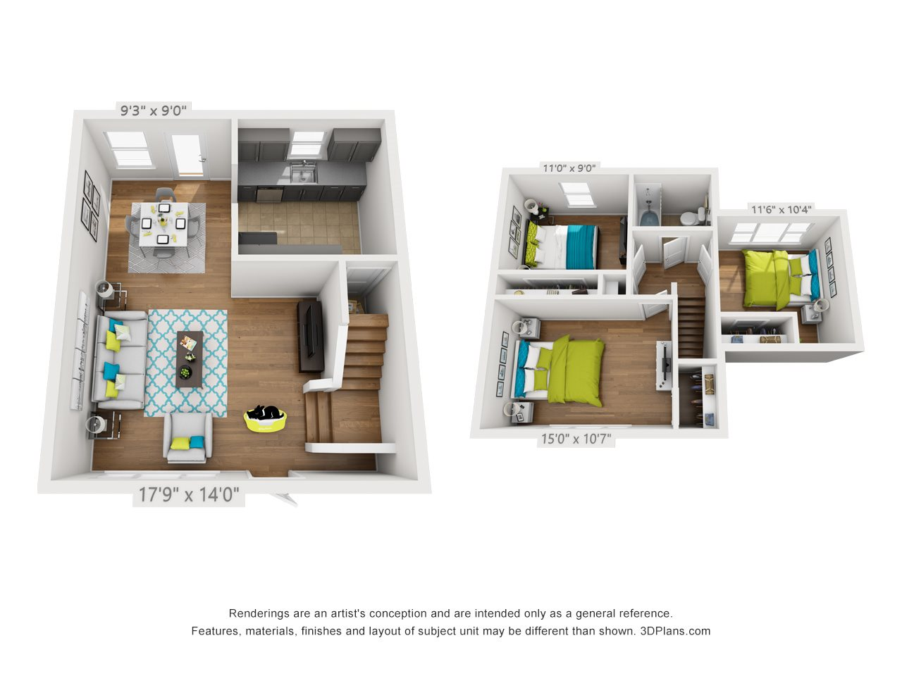 3x1 Townhome Floor Plan 5