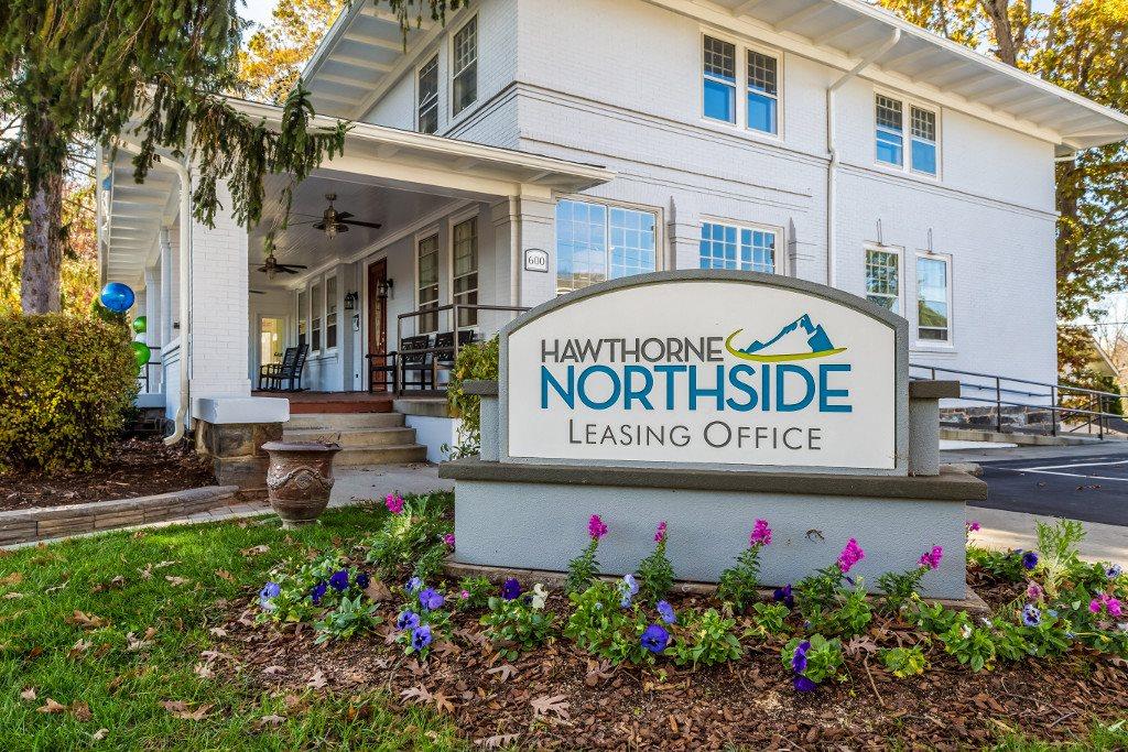 Signage at Hawthorne Northside, Asheville, NC 28804
