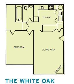 1x1 White Oak Floor Plan 1