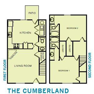 The Cumberland Floor Plan at Bluff View at Northside - Hixson TN 37343