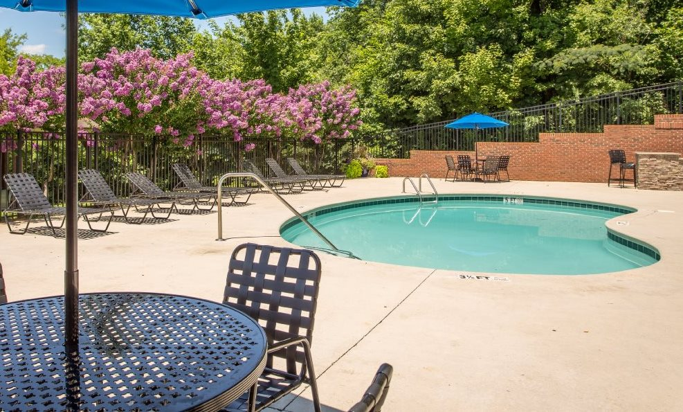 Sparkling Swimming Pool at Bluff View at Northside - Hixson TN 37343
