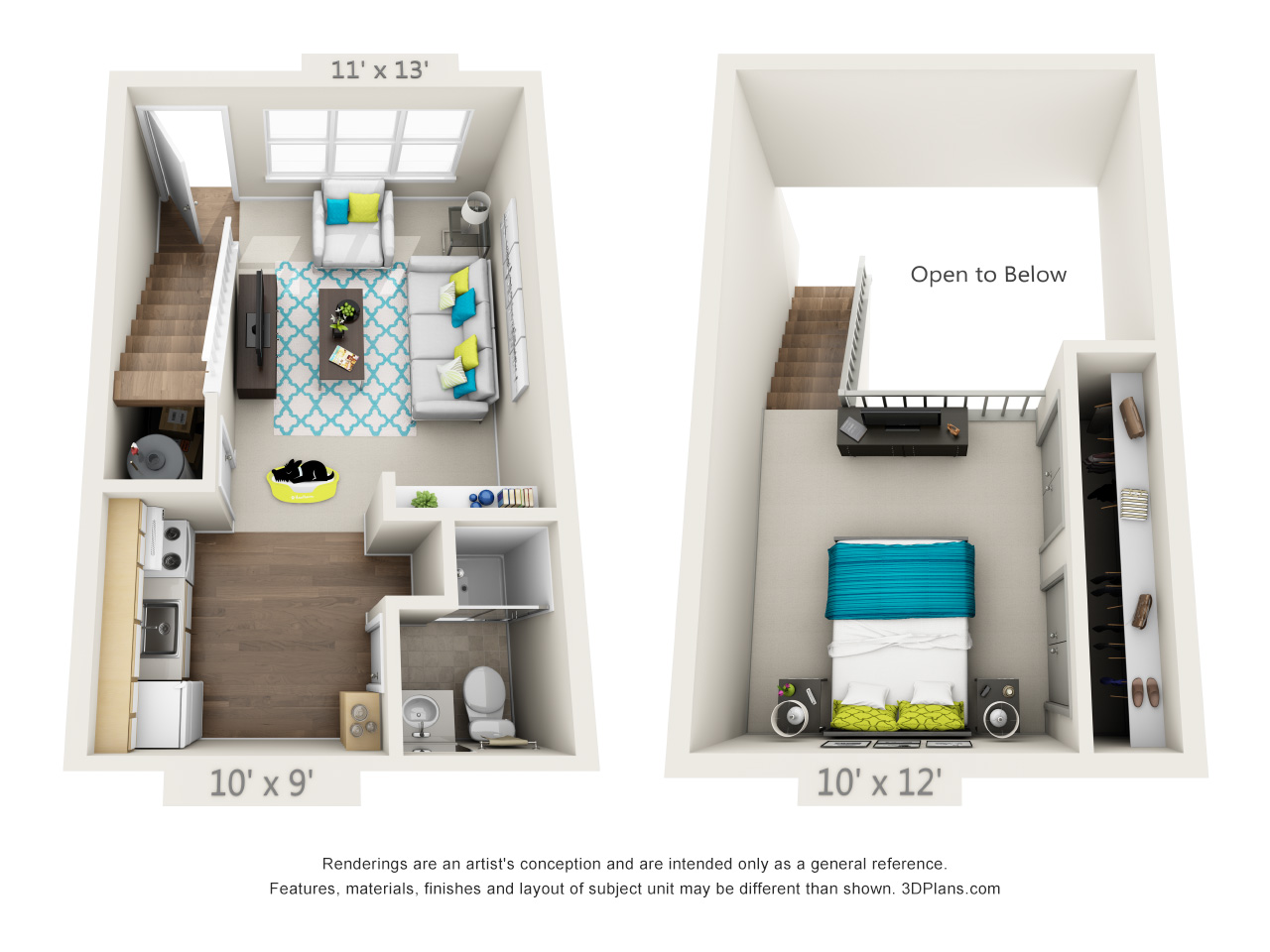 1 Bedroom Loft   Classic, 1, 1, 500, Call For Details