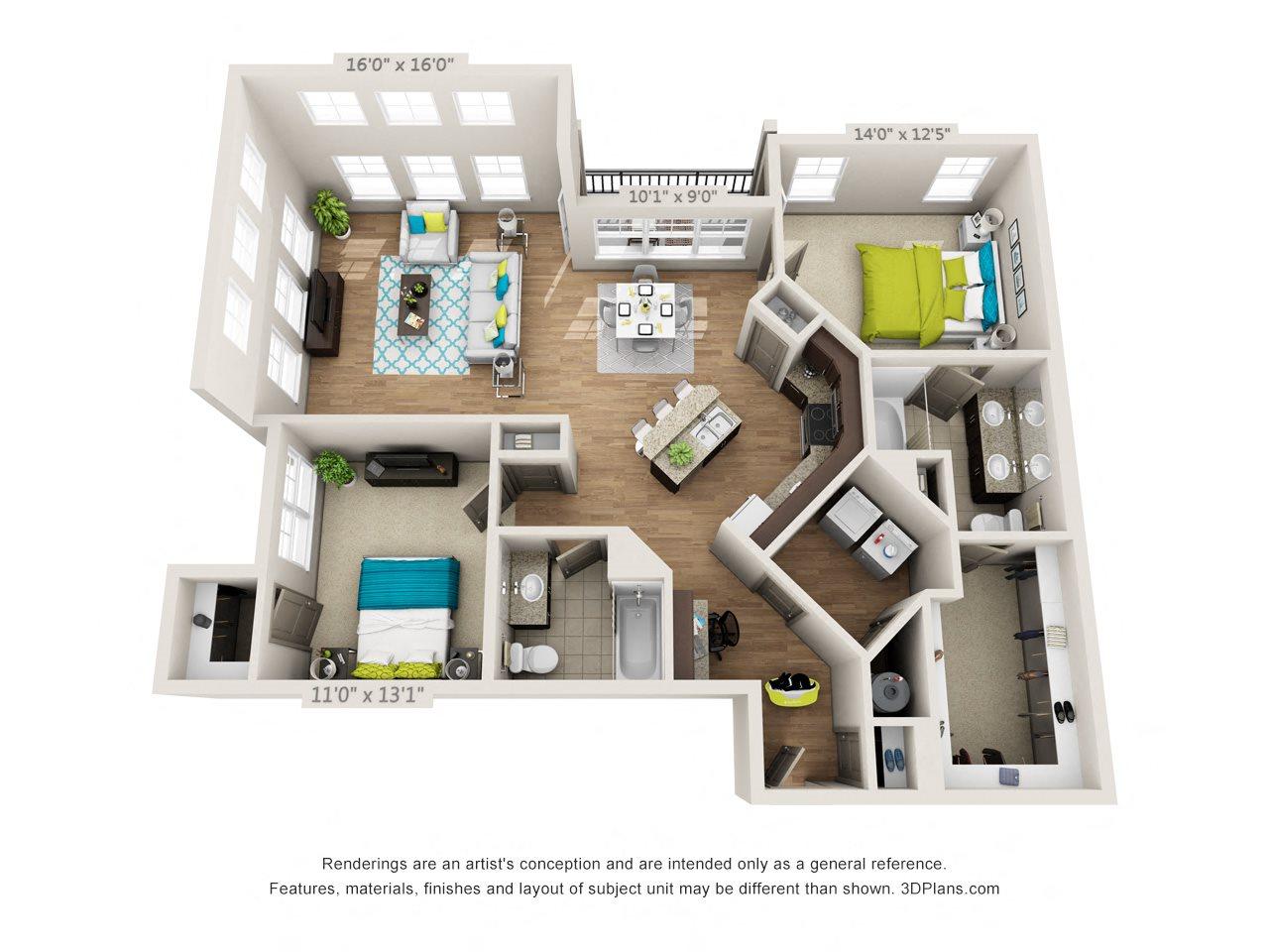 Penthouse Floor Plan 7