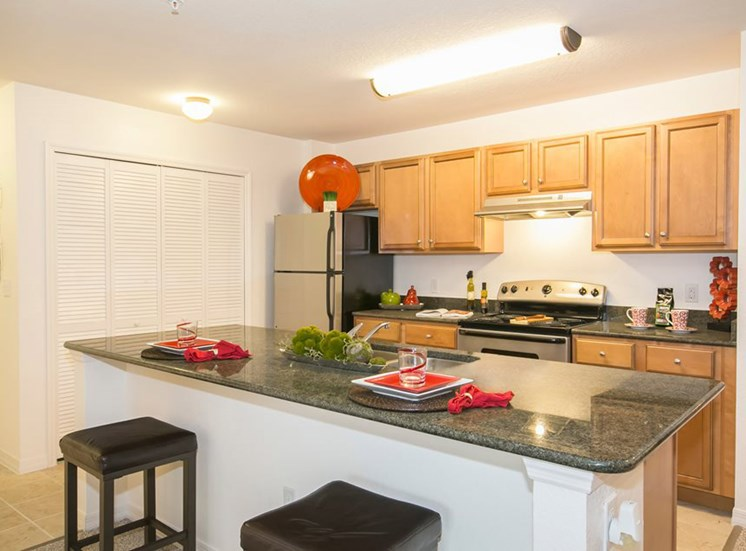 Rolling Green Apartments for rent in Sarasota, FL. Make this community your new home or visit other Concord Rents communities at ConcordRents.com. Kitchen