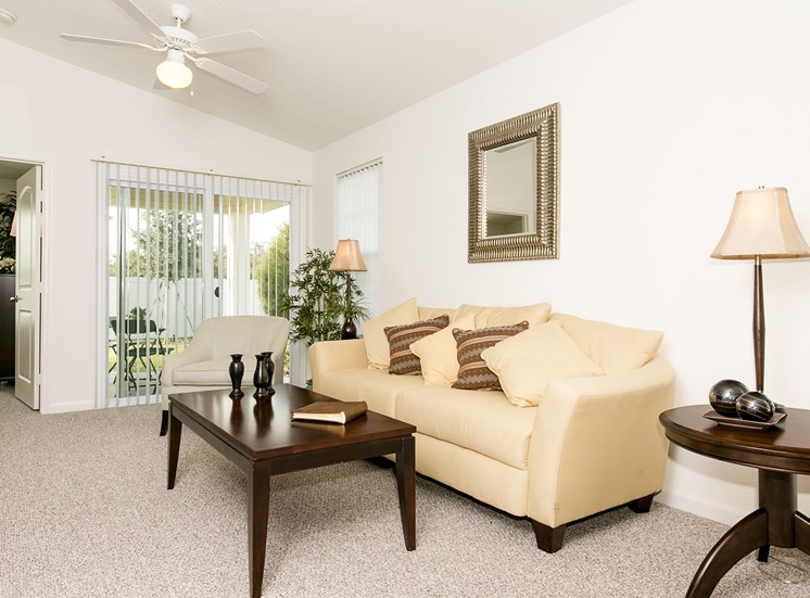 Saxon Cove Senior Living Apartments for rent in DeBary, FL. Make this community your new home or visit other Concord Rents communities at ConcordRents.com. Living room