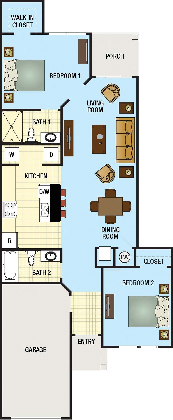 Palmetto Floor Plan - Concordrents.com