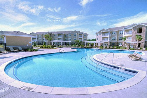 Pool at Stillwater at Southbridge Apartments, Sneads Ferry, NC 28460