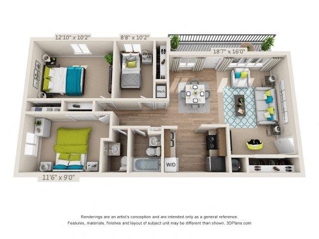 The Laurel Floor Plan 6