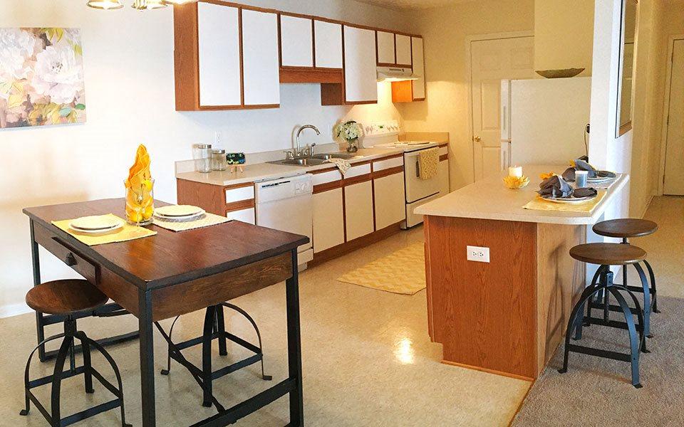 Kitchen at Hidden Lake Apartments, Fayetteville, NC 28304