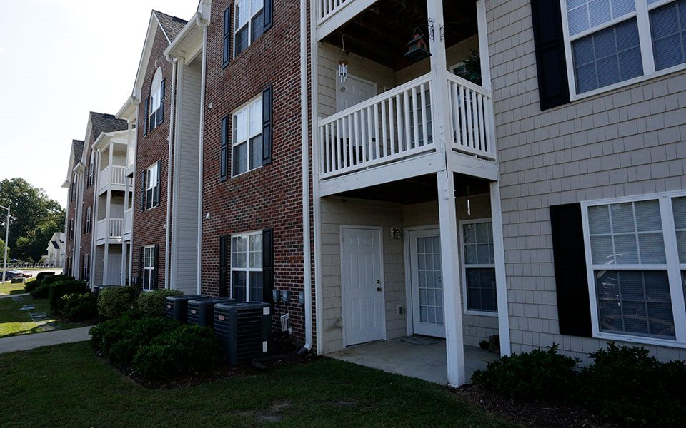 Patio/Balcony at Hidden Lake Apartments, Fayetteville, NC