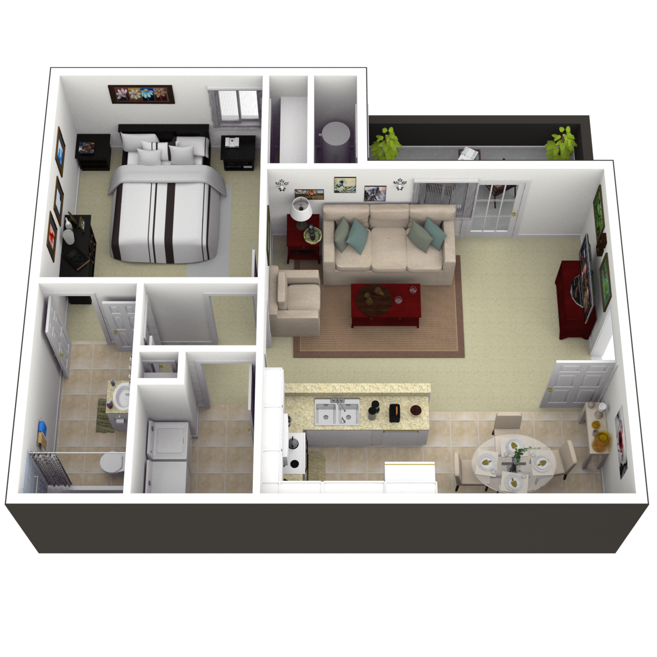The Belmont Floor Plan 1